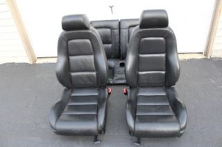 00 06 Audi TT Black Leather Bucket Seats Front Rear Nice Set Airbags