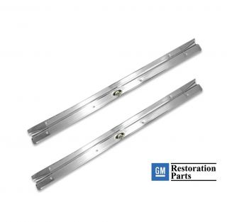 Nova Chevy II Door Sill Plates Pair with Rivets 68 79