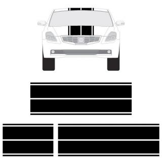 Nissan 350Z or Altima Dual Rally Racing Stripes 3M Double Stripe Decals