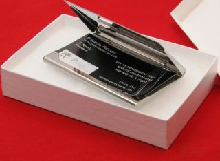 Personalized Business Card Holder Stainless Steel Free Custom Engraved