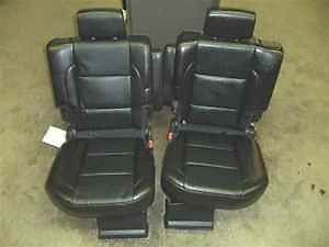 Nissan Armada Black Leather Rear Seats 2nd Row