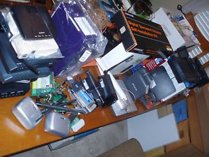 Lot Bundle Misc Wi Fi Routers Cable DSL Modems USB PC Card Wi Fi Adapters