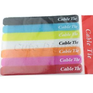 7 Pcs Cable Power Wire Management Marker Straps Ties