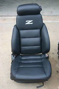 1985 1989 Nissan 300zx Black Leather Seat Covers Custom Replacement 86 87 88