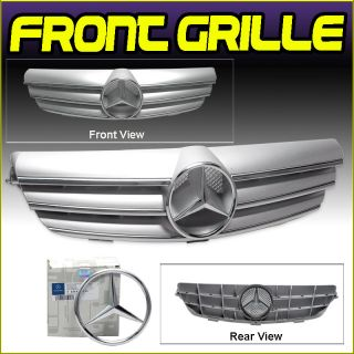 03 09 Mercedes Benz W209 CLK Chrome Front Grille Grill Authentic Star Emblem