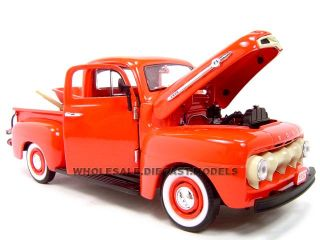 1952 Ford Pickup Red w Tools 1 24 Diecast Model