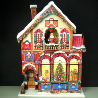 Wooden Christmas Advent Calendar Reusable Victorian Wood House Large 23 x 17