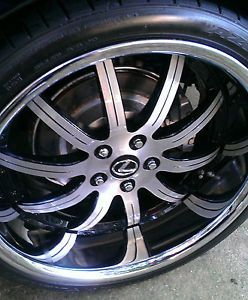 Custom Painted Black Rivets 20 inch Roderick RW3 Wheels Rims Falken Tires Lexus