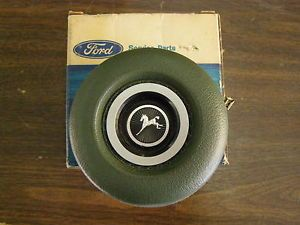 1971 1972 1973 Ford Pinto Steering Wheel Center Pad Button Green
