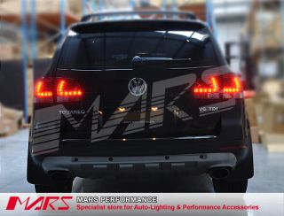 Clear Red LED Tail Lights VW Touareg 03 10 Taillight 7L Luxury 4XMOTION R50 4x4