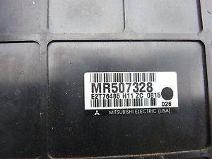 2001 Mitsubishi Eclipse A T ECU ECM Engine Computer MR507328