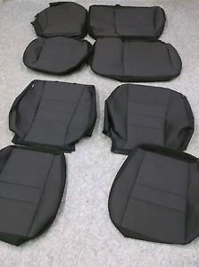 New Seat Covers Chevy Camaro 2010 2012 Genuine Chevy Parts Black Cloth