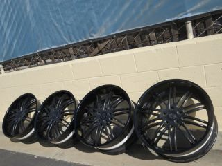 "22"" Black asanti CX504 Forged Porsche Panamera Turbo Wheels HRE 20"