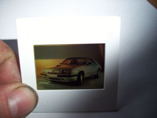 1984 Ford Mustang SVO Factory Ford Press Media Relations Color Slide