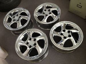 "Aftermarket Porsche 911 Turbo Twist 18"" Wheels Rims Front 18x8 Rear 18x10"