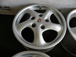 "17"" Factory Porsche Carrera 911 Wheels 993 996 Narrow Body C2 C4 928 944"