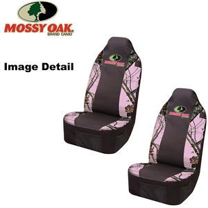 Front Car Truck SUV Bucket Seat Covers Mossy Oak Infinity Pink Print Camo Pair