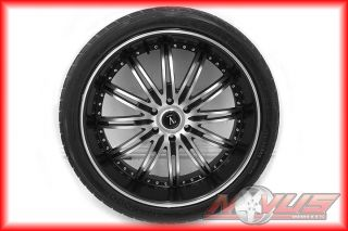 "24"" Velocity Black Wheels Cadillac Escalade Chevy Tahoe GMC Yukon Tires 22 20 26"