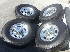 "Chevy GMC 16"" 8 Lug Alloy Wheels Rims Tires 2500 3500 HD Silverado Sierra"