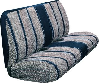 Navy Blue Saddle Blanket Truck Bench Seat Cover Ford Chevy Optional Headrests