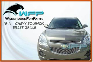 10 12 Chevy Equinox Bolton Upper Billet Grille Grill 2pc Insert