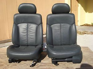 Black Leather Bucket Seats Chevy S10 Truck Blazer Sonoma Xtreme Power Street Rod