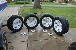 "20"" White Black KMC XD Rockstar Wheels 33x12 5R20 Nitto Mud Terrain Tires Nice"