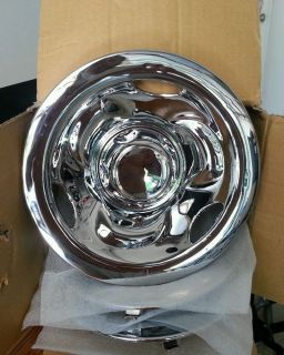 "Golf Cart EZGO Yamaha Club Car 8"" Chrome Deep Dish Wheel Hub Caps Set of 4"