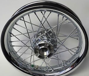 New Harley Davidson 41990 11 Chrome Laced Rim Wheel 16 x 3