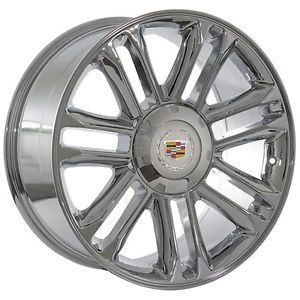 "24"" inch Cadillac Escalade Platinum Chrome Wheels Rims"