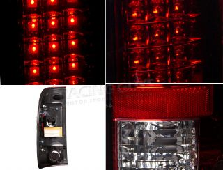 Ford F250 F350 Super Duty SD New Pair Red LED Brake Turn Signal Tail Lights Set