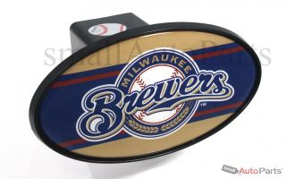 "Milwaukee Brewers MLB Tow Hitch Cover Car Truck SUV Trailer 2"" Receiver Plug Cap"