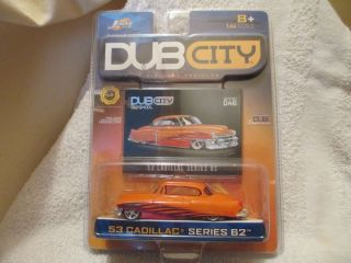 "2003 Jada Toys '53 Cadillac Series 62 Orange Black Flames Dub City"" Oldskool"""