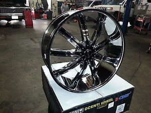"Dcenti DW29 30"" Wheels Rims Tires Fitchevy Cadillac GMC Ford Old School Cars"