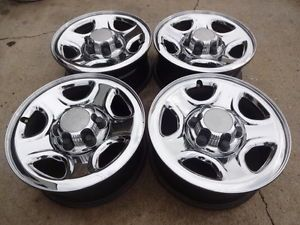 "16"" Factory Chevrolet Silverado Chrome Steel Wheels 1999 06"