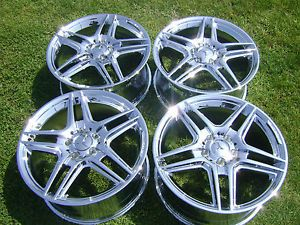 "4 18"" New Mercedes Benz E350 E550 Sedan Chrome Wheels Rims Exchange"