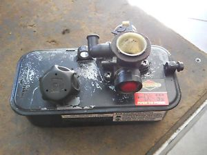 Briggs Stratton Lawn Mower Engine Gas Tank Carburetor with Pulse Jet Primer