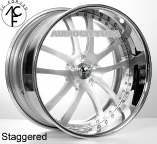 "22"" AC Forged 312 St Brush 3pc Wheels and Tires Rims for BMW Series Mercedes"