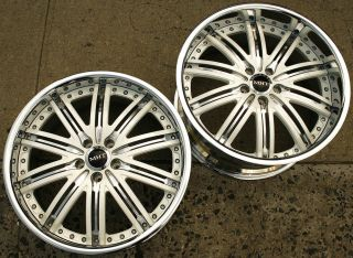Dub Mirage Z12 2pc 20 x 9 0 10 White Rims Wheels Nissan 370Z Stag 5H 36