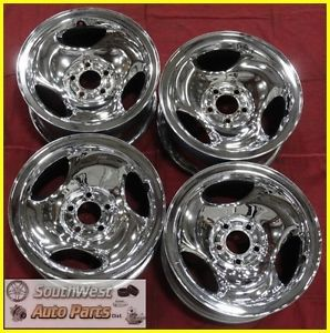 "96 97 98 Explorer Ranger 16"" Chrome Steel Wheels Used Factory Rims Set 3202"