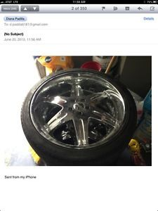 "22"" Wheels Chrome Donz Rims"
