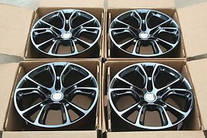 "4 Factory Jeep Grand Cherokee SRT 8 20"" Wheels Rims Black Chrome"