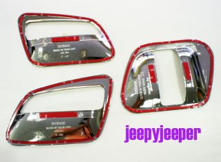 Chrome Door Handle Cover Bowl Bowler Toyota Hiace Commuter 2005 2012 On
