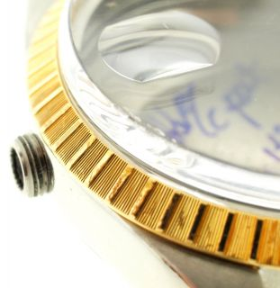 Rolex Men Orig s s Case 15053 Gold Engine Turn Bezel 15000 Case Back Tube
