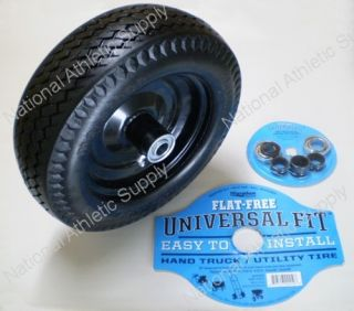 Marathon No Flat Dolly Cart Hand Truck Tire Set of 2 Universal Fit 00210 Wheels