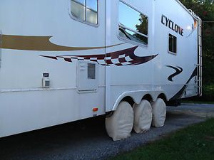 6 Tire Wheel Covers Tri Axle Toy Hauler camper 5th Trailer Six Fifth Rim Cover