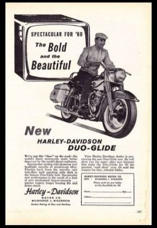 1960 Harley Davidson Duo Glide Bold and Beautiful Vintage Motorcycle Ad