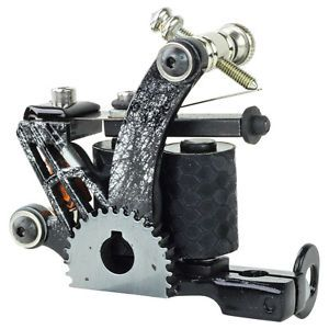 New Pro Tattoo Machine Gun Custom Handmade Liner Shader Dual 10 Wrap Coils