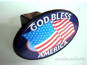 "God Bless America USA Flag Tow Hitch Cover Car Truck Trailer 2"" Receiver Plug"