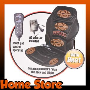 Heated Back Seat Padded Massage Cushion for Chair Car Massage Seat Cover New